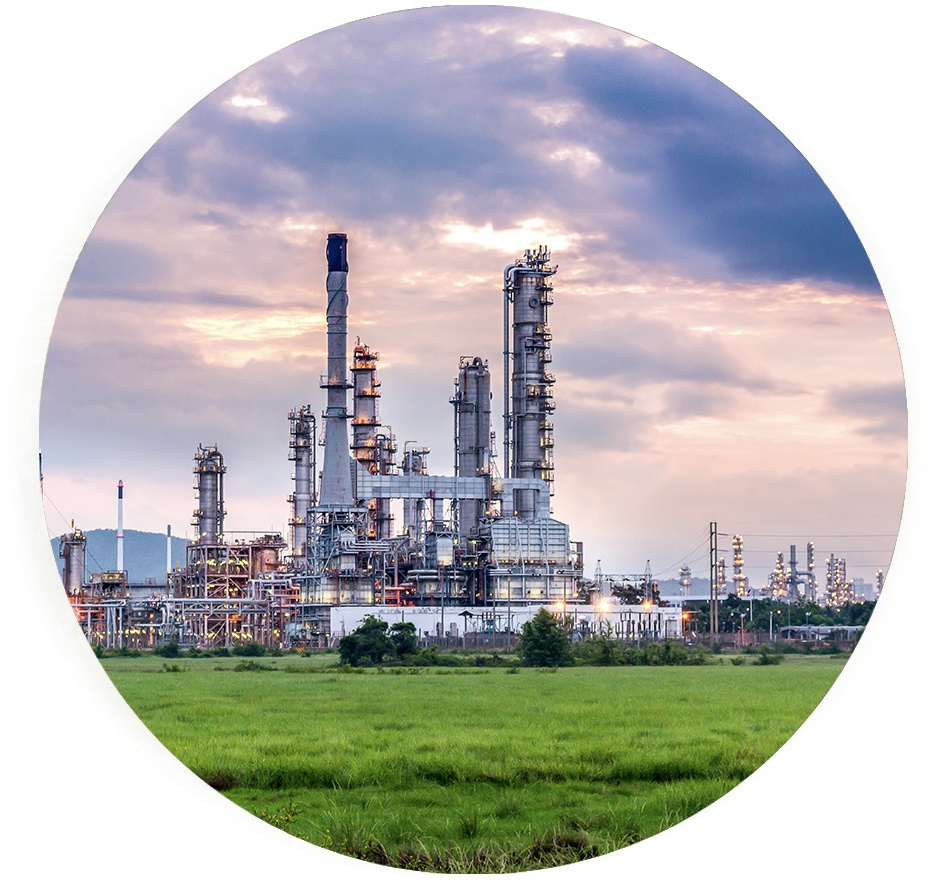Oil and gas refinery plant