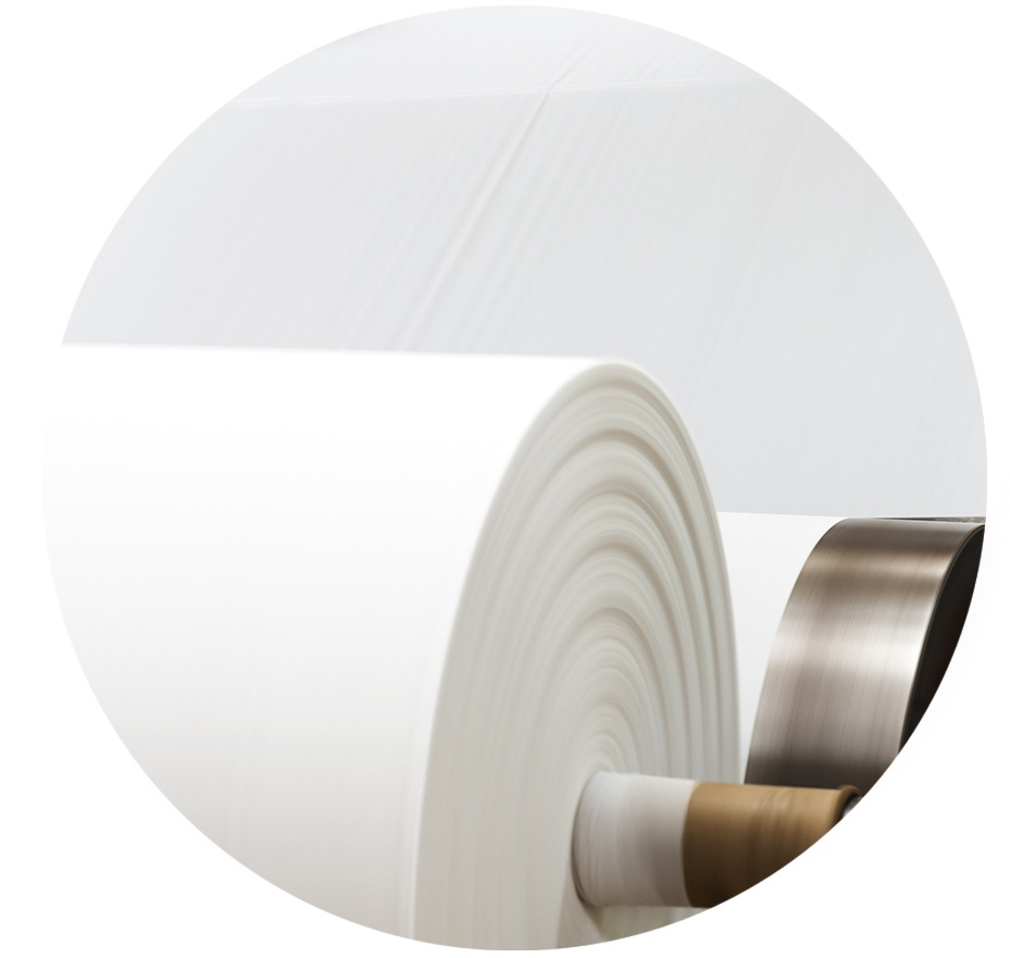Paper rolled at paper mill facility